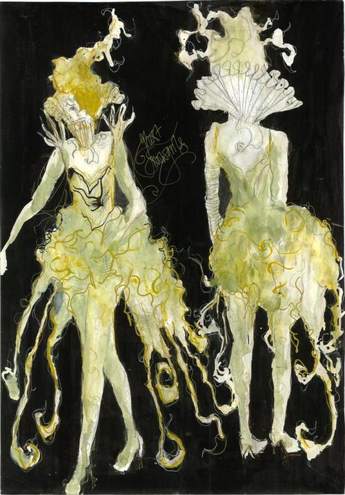 Ghostly showgirls